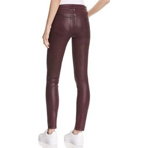 PAIGE Ultra Skinny Wine Luxe Coated Burgundy Jeans